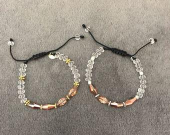 Rose crystal bracelet