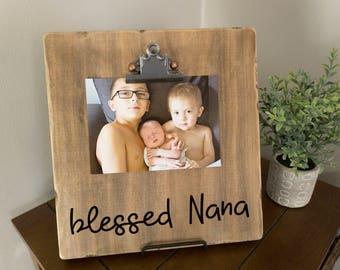 blessed nana frame custom photo frame painted photo frame solid wood decor - Nana Frame