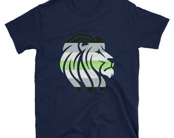 Agender Pride Lion Unisex T-Shirt  lgbt lgbtqipa lgbtq mogai pride flag bi pride
