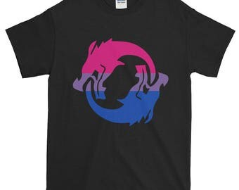 Hanzo Bi Pride Unisex Short-Sleeve T-Shirt, Overwatch, lgbt, lgbtq, lgbtqipa, queer, queer pride