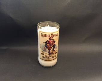 750ML Captain Morgan Spiced Rum  BOTTLE Soy Candle. Made To Order !!!!!