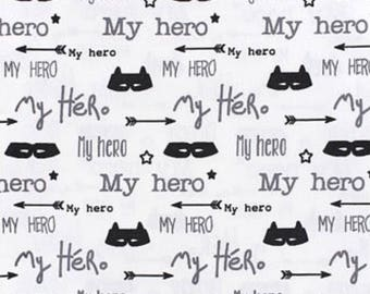 my hero print jeresy fabric