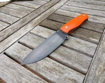 Hunt Knife/Camp knife-hunting knife/field knives-O2 tools Steel-K720-G10 Orange handle-orange G10 handle