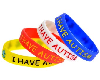 I have Autism Medical Alert Wristband (2 pcs)
