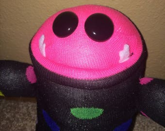 Handmade weird arms & legs sock monster