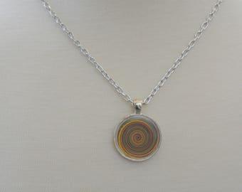 Kaleidoscope Swirl Pendant Necklace