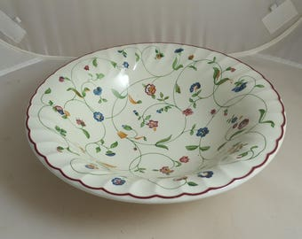 Oakwood by Staffordshire Vegetable Bowl Red Trim