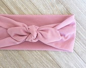 Mauve Stretch Headband for baby, child or Adult, back to school wear