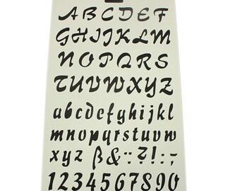Scrapbook Alphabet & Numbers Spray Stencil