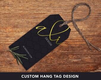 Custom Hang Tag Design, Packaging Design, Bag hang tag design, boutique hang tag, clothing hang tag, package design, hangtag design
