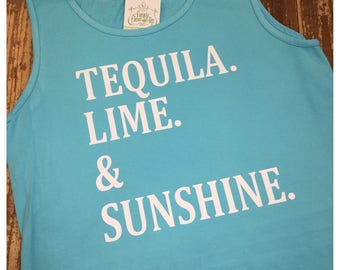 Tequila Lime Sunshine Graphic Tank