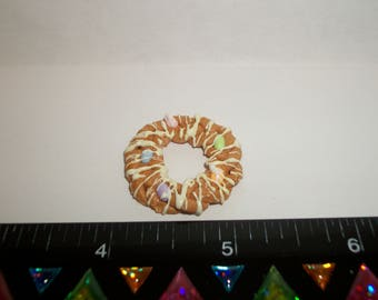 Dollhouse Miniature Handcrafted Braided Easter Egg Bread Ring Dessert Cake Doll Food ~ 1  1/8 inches (27 cm) - 1445