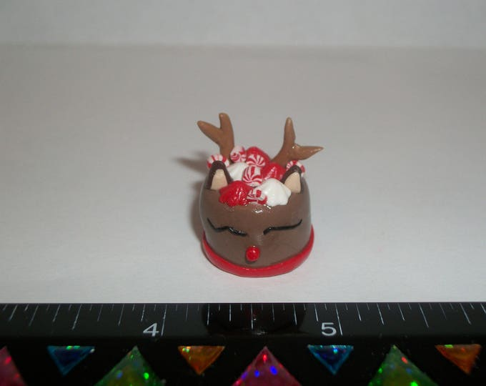 Featured listing image: Dollhouse Miniature Handcrafted Christmas Reindeer Dessert Cake Doll Food E30