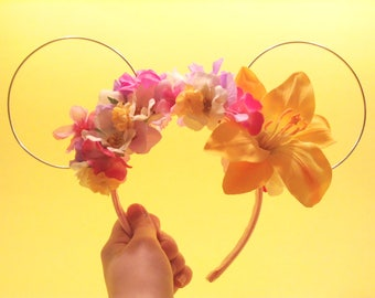 Tangled / Rapunzel Floral Mouse Ears | Mouse Ears | Minnie Ears