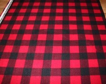 Black Red Plaid fleece