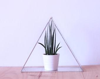 Glass terrarium triangle - triangle glass terrarium