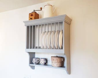 Plate Rack | Kitchen storage handmade in Cambridgeshire by Beaufort & Dunham