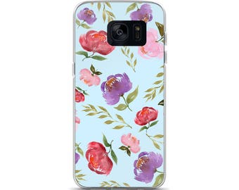Samsung Case Spring Bouquet Baby Blue