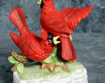 Summer Sale Red Cardinals Music Box