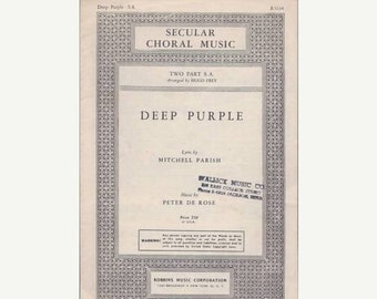 Deep Purple Sheet Music
