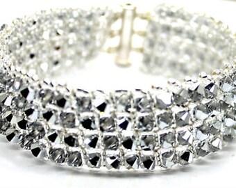 Silver Swarovski Cuff