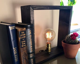 Square Box Edison Lamp, Vintage Inspired Lamp