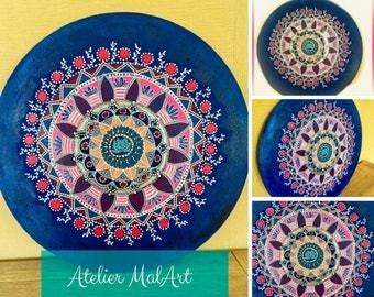 Dreamtime - artwork mandala time plate, decoration, home decoration, gifts, gift for him and her, meditation, handmade