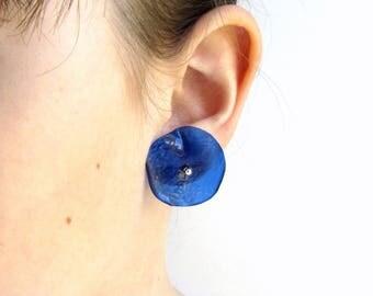 Orb jewelry earring Royal blue jewelry Dark blue earring Beach jewelry Sky blue earring Blue summer earring Sister blue jewelry Wife jewelry
