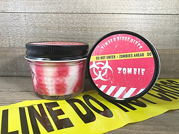 Zombie - Horror Candle - Soy Wax Candles - Man Cave - Soy Candle - Mason Jar Candles - Cool Candles - Homemade Candles - Scented Candle