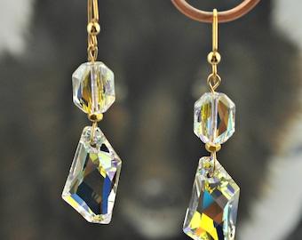 Swarovski Crystal Baroque 14K GF Earrings