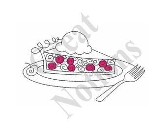 Cherry Pie Slice - Machine Embroidery Design