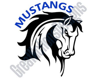 Mustangs SVG - HTV - Vinyl Cutting Graphic Art