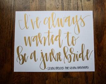 June Bride Print