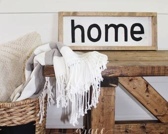 "Wood Sign- ""Home"""