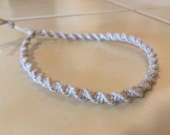 Spiral Hemp Macrame Bracelet