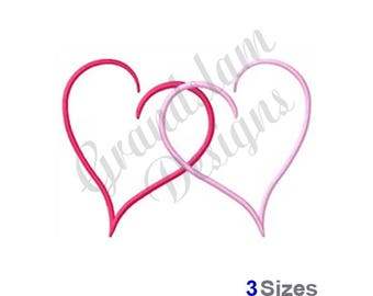 Two Hearts - Machine Embroidery Design