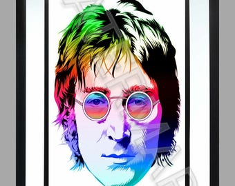 John Lennon . A3 Print , Graphic . Art . The Beatles . Poster
