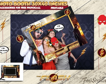 The FLASH,the Flash Birthday,The Flash Party,The Flash Photocall,Photocall Flash, Photo booth The Flash,Flash invitation,Flash,Flash party