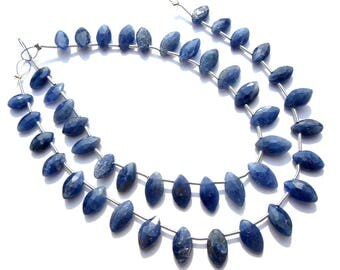 Semiprecious Stone, Blue Sapphire Marquise Faceted Beads, Quality A+, 5x8.50 to 6x11 mm, 18 cm, 21 pieces, SA-101/1,Gemstone Beads