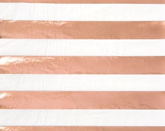 Rose Gold Foil Napkins/ Rose Gold Party Napkins/ Foil Rose Gold Party Napkins/ Rose Gold Party