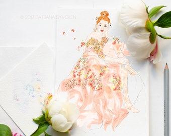 Custom illustration Personalized gift for her Digital illustartion Wedding illustration Personalized illustration Fashion illustartion