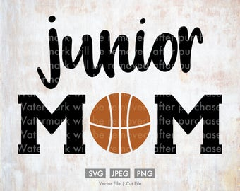 Junior Basketball Mom - Vector / Cut File, Silhouette, Cricut, SVG, PNG, JPEG, Clip Art, Stock Photo, Download, Sports, Team, Player, Games