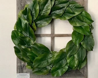 Magnolia Wreath ~ Farmhouse ~ Fixer Upper ~ Rustic