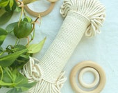 Natural* cream cotton, 4mm rope, cotton cord, macrame cord, craft supplies, diy supplies, plant hanger, bohemian decor