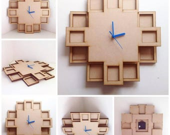 Multi photo frame clock, Wall clock, Photo clock, Photo frame clock, Picture clock, Picture frame clock