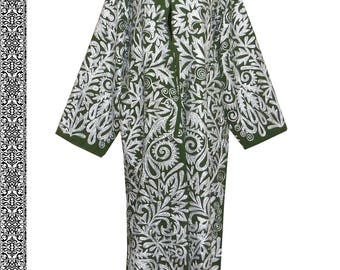 gorgeous uzbek silk embroidered robe chapan coat bukhara b852