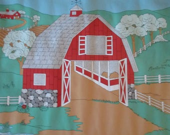 "Colorforms and ""On the Farm"" Wallcovering Border Set Vintage 1990"