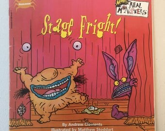 90's Nickelodeon Aaahh Real Monsters Stage Fright Book