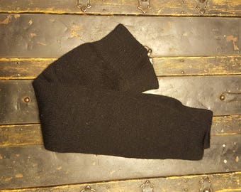 Vintage Leg Warmers, 1980's Black Knit Leg Warmers