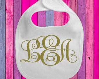 Personalized Bib with Monogram